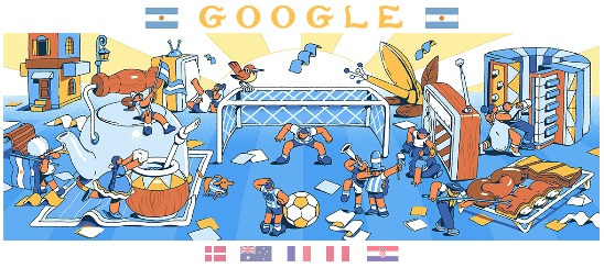 Google 2018年ワールドカップ - 8 日目ロゴに!