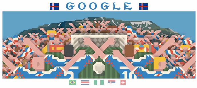 Google 2018年ワールドカップ - 9 日目ロゴに!