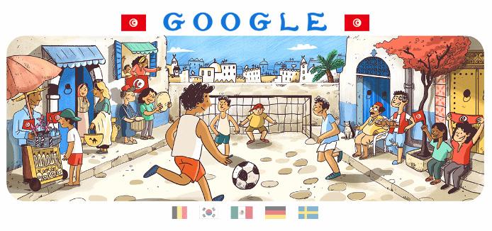 Google 2018年ワールドカップ - 10 日目ロゴに!
