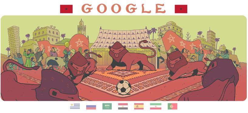 Google 2018年ワールドカップ - 12 日目ロゴに!