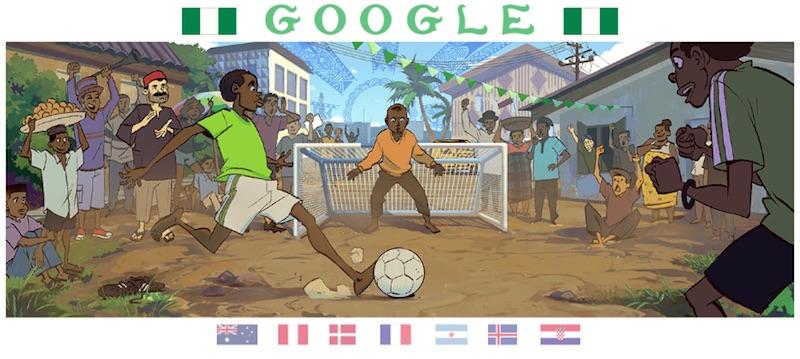 Google 2018年ワールドカップ - 13 日目ロゴに!