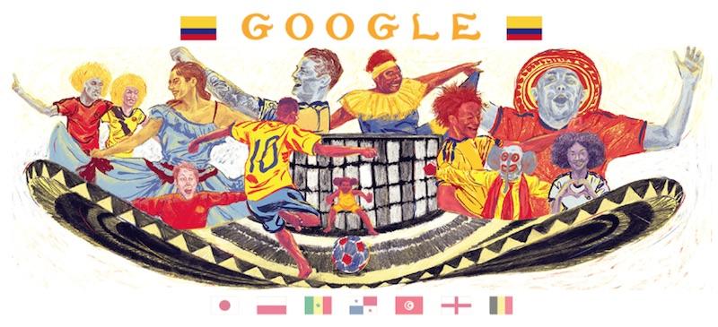 Google 2018年ワールドカップ - 15 日目ロゴに!