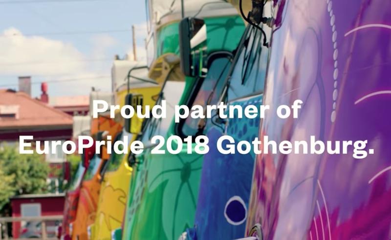 Proud partner of EuroPride 2018 - Västtrafik