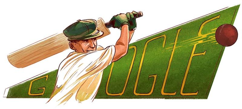 Google クリケット界のレジェンド、ドラルド・ジョージ「ザ・ドン」ブラッドマン生誕110周年記念ロゴに!