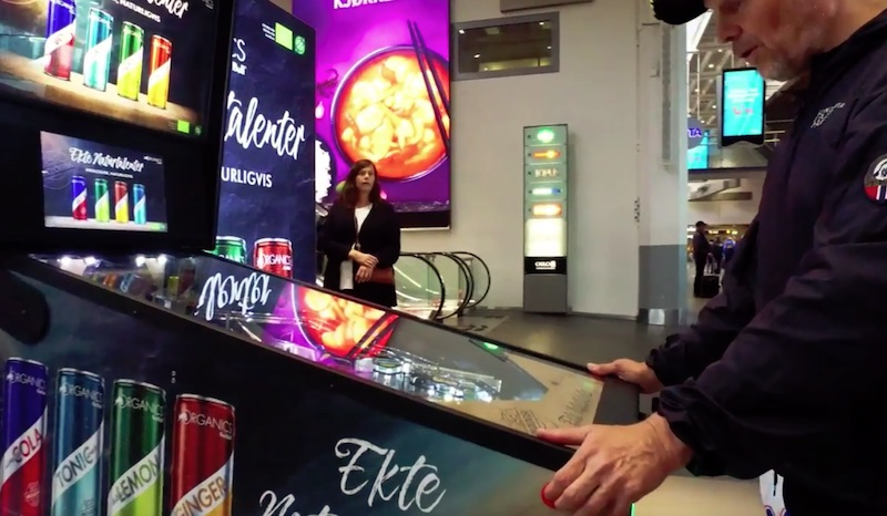 Red Bull OOH Pinball Machine dispenses free drinks at Oslo S