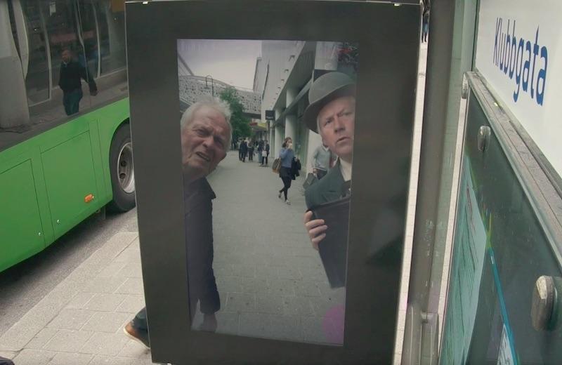 AR bus shelter for Gjensidige in Stavanger