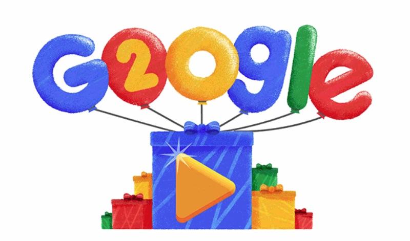 Google 創立20周年記念ロゴに!