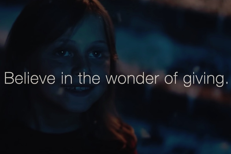 Believe in the wonder of giving