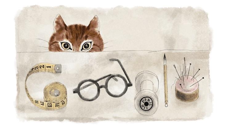 Google 藤田嗣治(レオナール・フジタ)さん生誕132周年記念ロゴに!