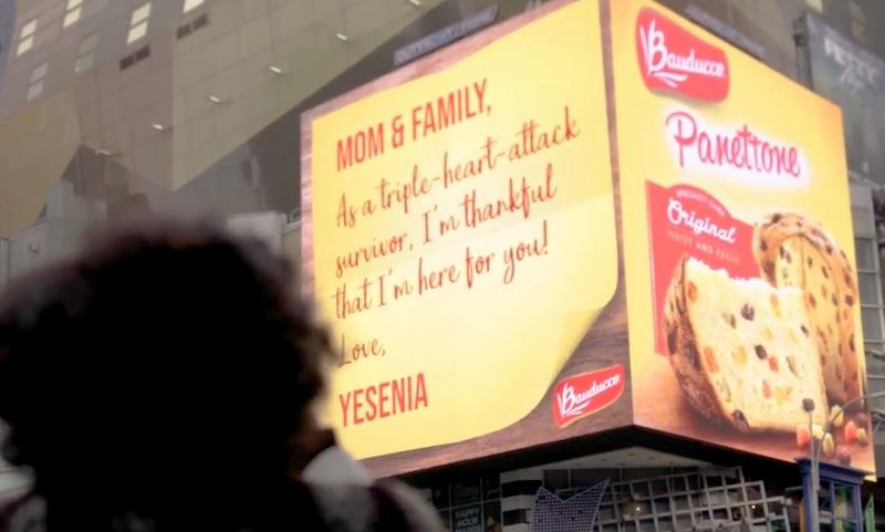 Bauducco Panettone - Thanksgiving - Times Square