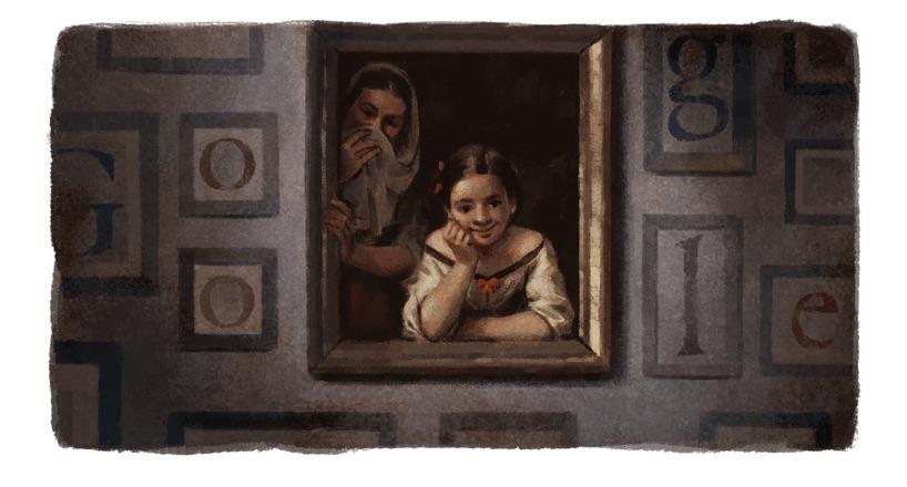 Google スペインの画家バルトロメ・エステバン・ムリーリョの400周年を称えるロゴに!