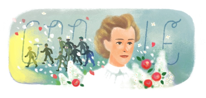 Google イギリス出身の看護師エディス・キャベル生誕153周年記念ロゴに!