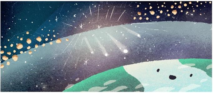 Google 2018年双子座流星群を説明するロゴに!