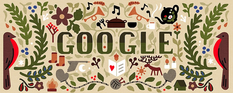 Google 2018年ホリデー シリーズ(1 日目)ロゴに!