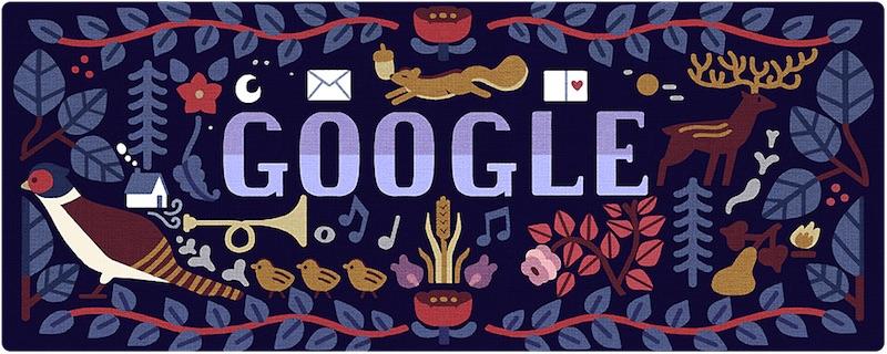 Google 2018年ホリデー シリーズ(2日目)ロゴに!