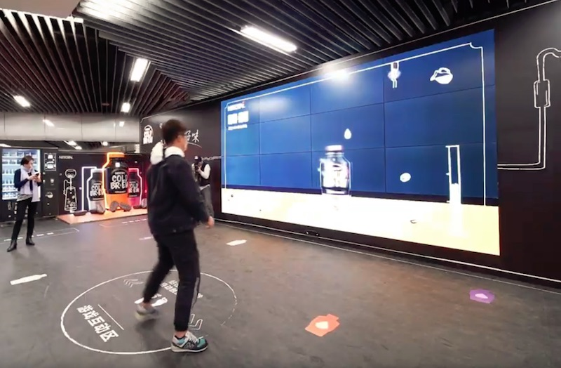 Nescafe's interactive DOOH game