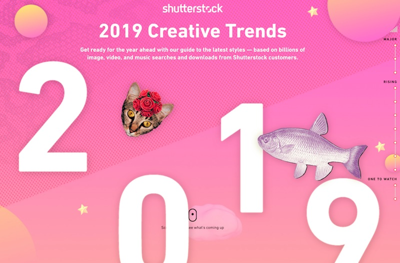 2019 Creative Trends Infographic - Shutterstock
