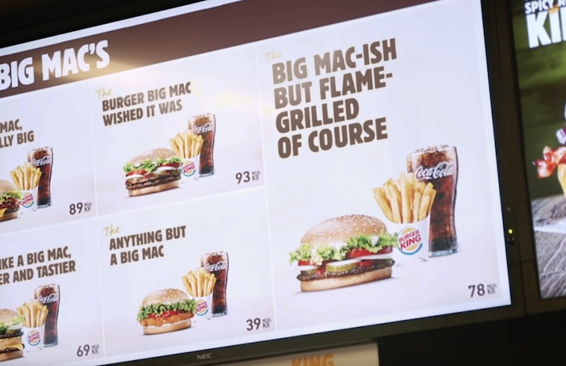 Burger King – The Not Big Mac's