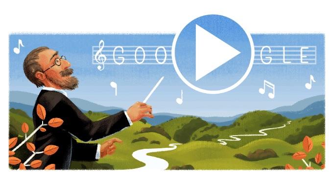 Google ベドルジハ・スメタナ生誕195周年で交響詩モルダウが流れるロゴに!