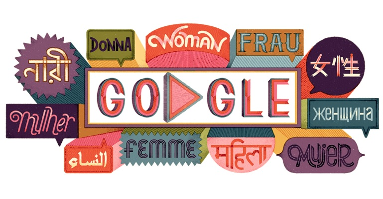 Google 2019年国際女性デーで、著名女性の格言スライドロゴに!