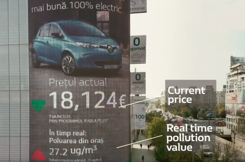 The DisCO2unt Billboard by Renault