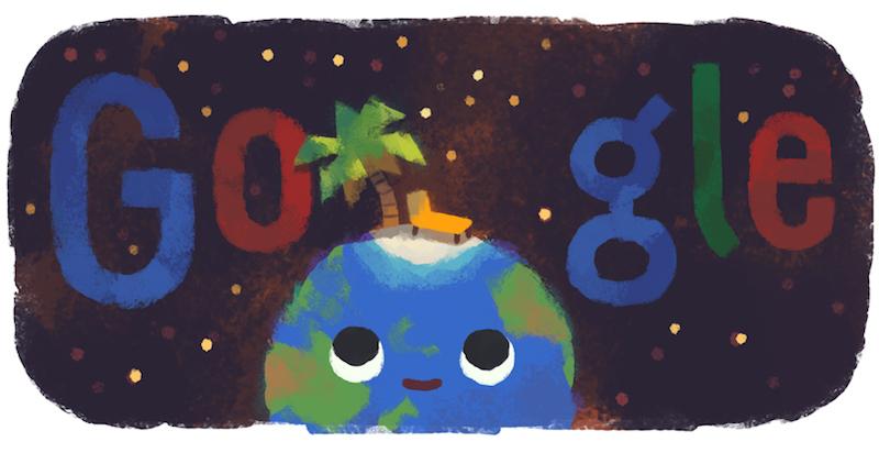 Google 北半球では2019年夏至ロゴに、南半球では2019年冬至ロゴに!