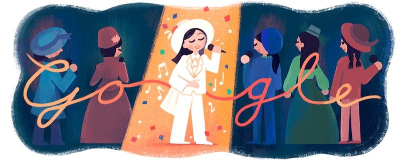 Google 台湾出身の歌手フォン・フェイフェイさん生誕66周年記念ロゴに!