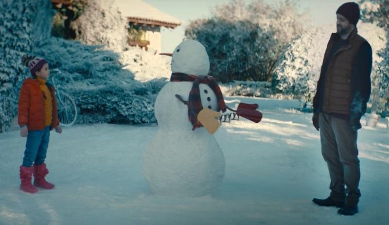A strange snowman