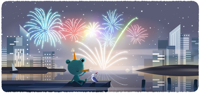 Google 2019年大晦日ロゴに!