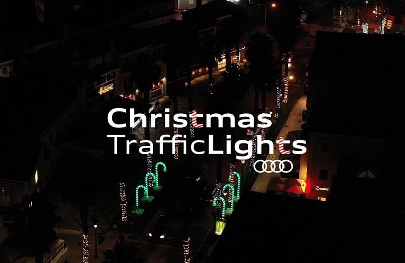 Audi Christmas Traffic Lights