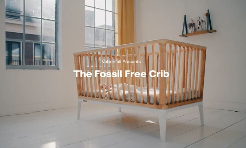 This is the first fossil-free produced bedstead in the world