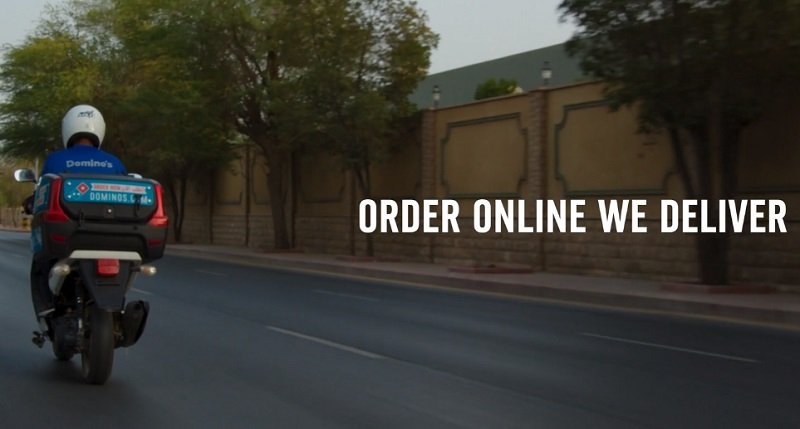 Dominos Pizza. We deliver to your doorstep.