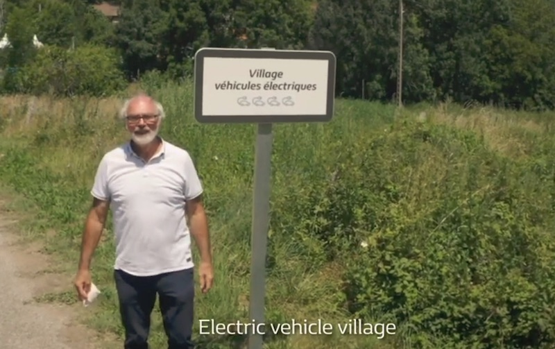 100% electric vehicles town