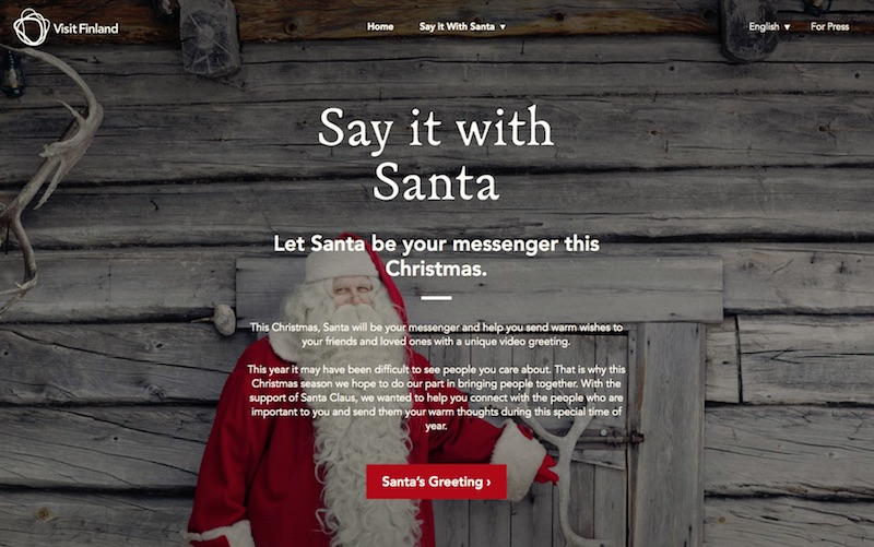 Visit Finland - Say it with Santa - JPN