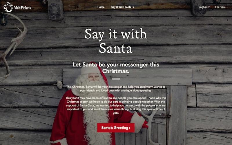 Visit Finland - Say it with Santa - JPN