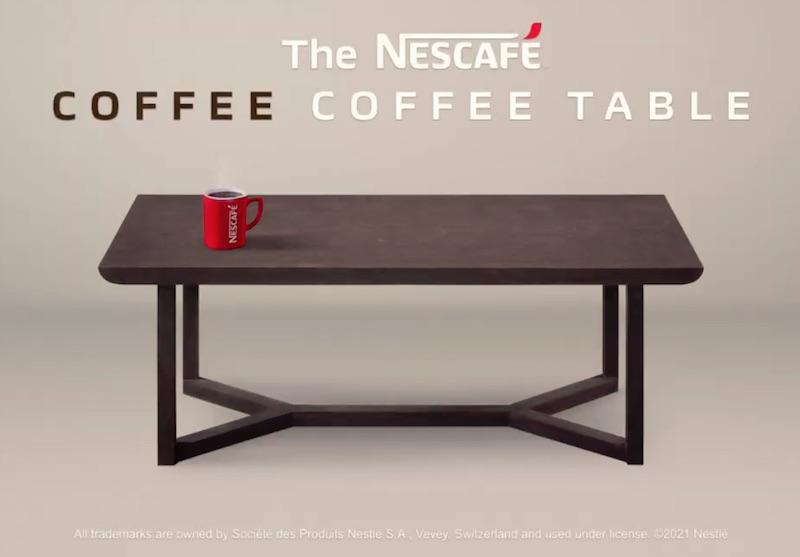 The Nescafe Coffee Coffee Table