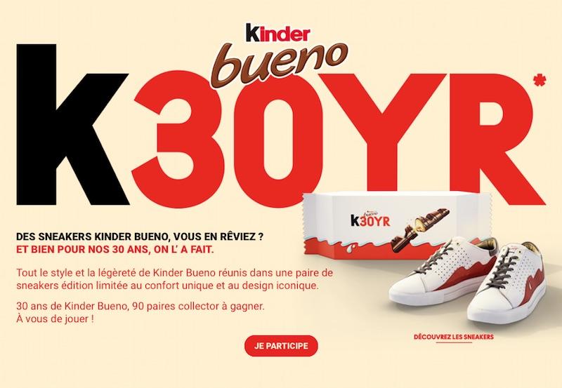 30 ans de Kinder Bueno, 90 paires collector à gagner