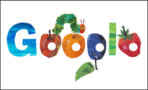 春分の日のGoogleはエリック・カールのはらぺこあおむし