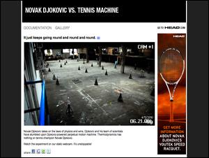 NOVAK DJOKOVIC VS. TENNIS MACHINE