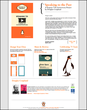 Speaking to the Past: A Penguin 75th Anniversary Project by Douglas Coupland