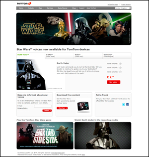 Star Wars™ voices now available for TomTom devices