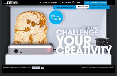 Samsung NX100 Make Your Toast