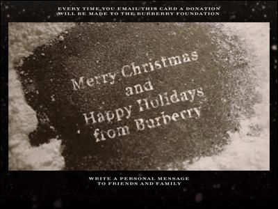 Burberry Christmas Card