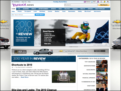 Yahoo! Year in Review 2010