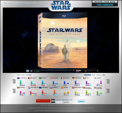 Star Wars:『スター・ウォーズ コンプリート・サーガ』初ブルーレイ化 MAYTHE4TH.STARWARS.COM
