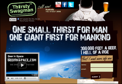 Beer in Space   Space Travel   Thirsty Swagman