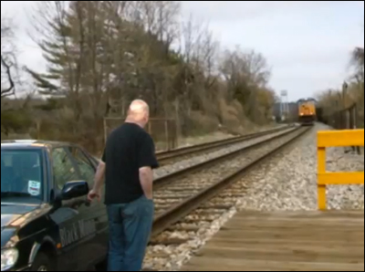 How to avoid getting hit by a train