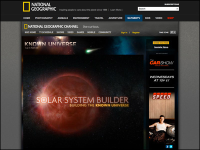 Solar System Builder | Known Universe- National Geographic