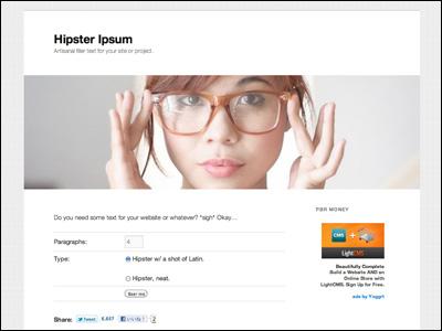 Hipster Ipsum