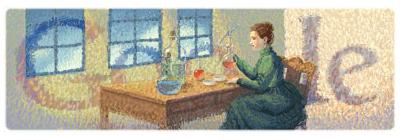 Google マリー・キュリー(キュリー夫人)生誕144周年